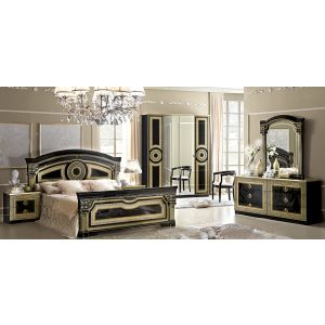 Aida Bedroom Collection in Black and Gold Finish by Camel Group