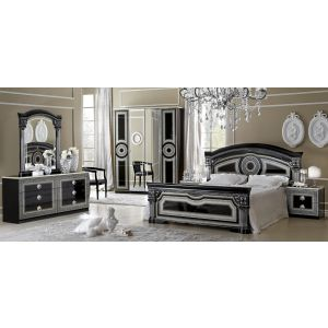 Aida Bedroom Collection in Black and Silver Finish by Camel Group