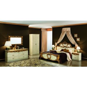 Barocco Bedroom Set in Ivory and Gold