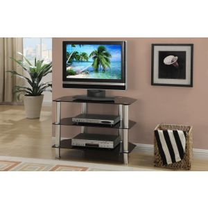 14291 TV Stand In Beveled Glass Top