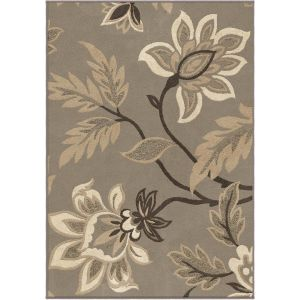 Lily  Taupe 3'11 x 5'5 Orian Rug