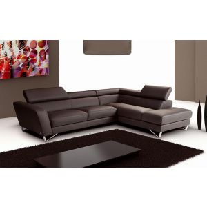Sparta Sectional Sofa in Chocolate Italian Leather